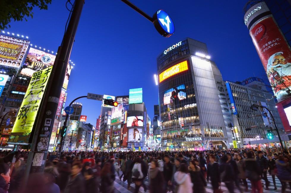 Crosswalk, Shibuya District, Tokyo, Japan