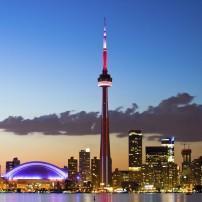 Sunset, Skyline, Toronto, Ontario, Canada
