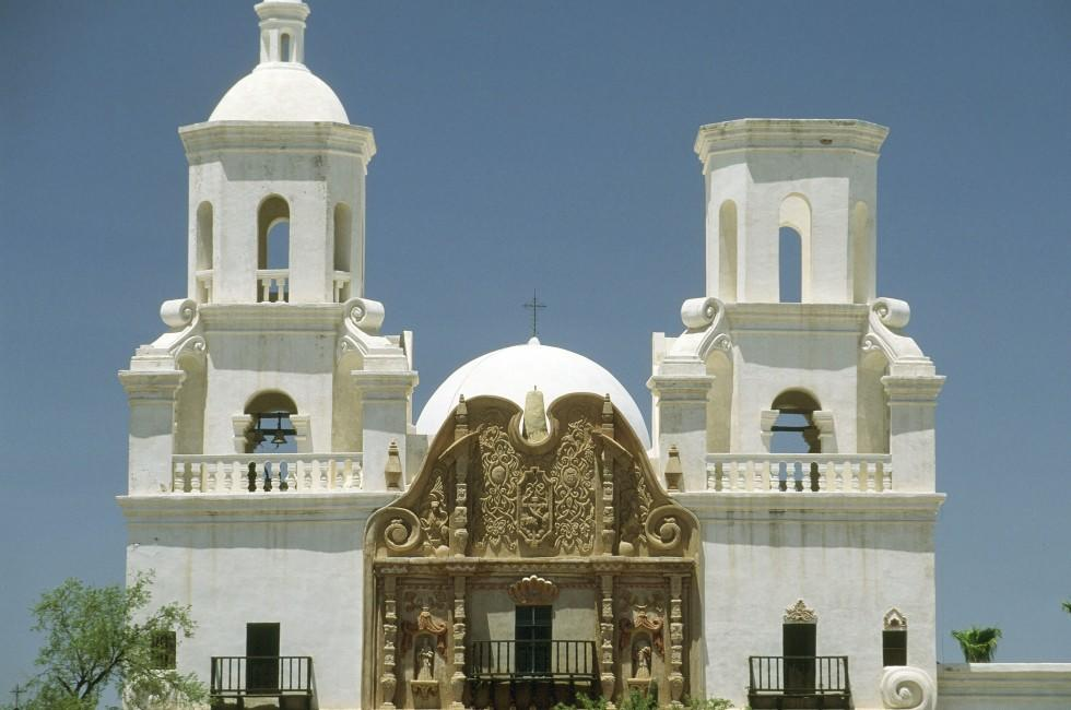 Mission San Xavier del Bac, Tuscon, Arizona, USA