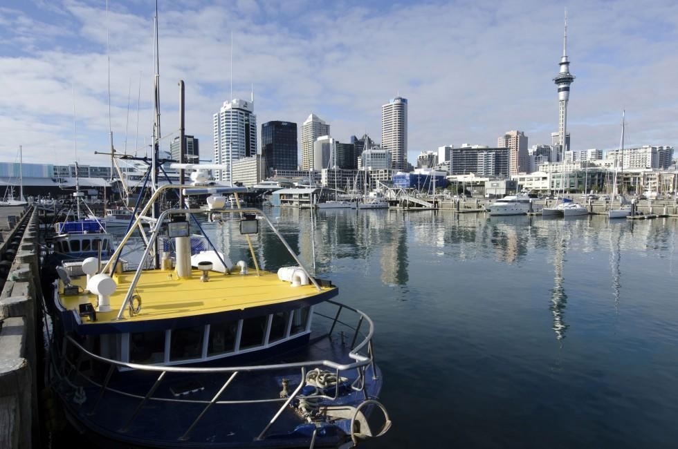 Boats, Harbor, Skyline, Auckland, New Zealand