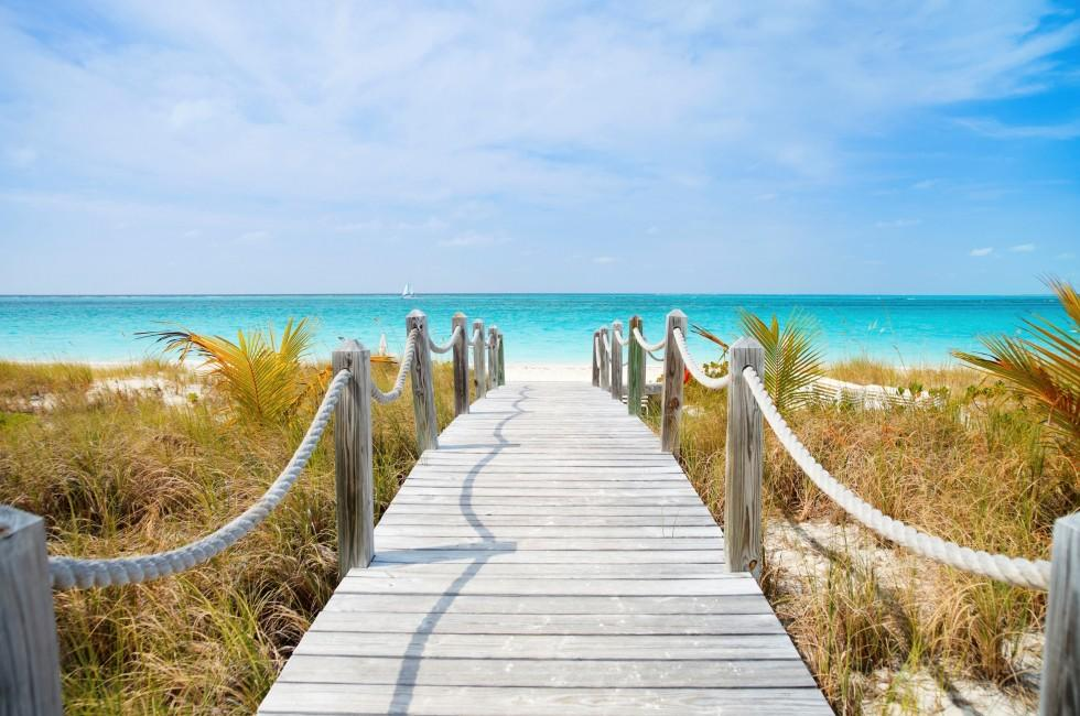 Dock, Providenciales, Turks and Caicos, Caribbean