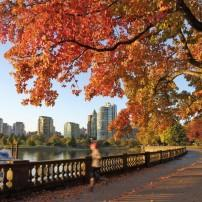 Autumn Run, Stanley Park Seawall, Vancouver, Canada