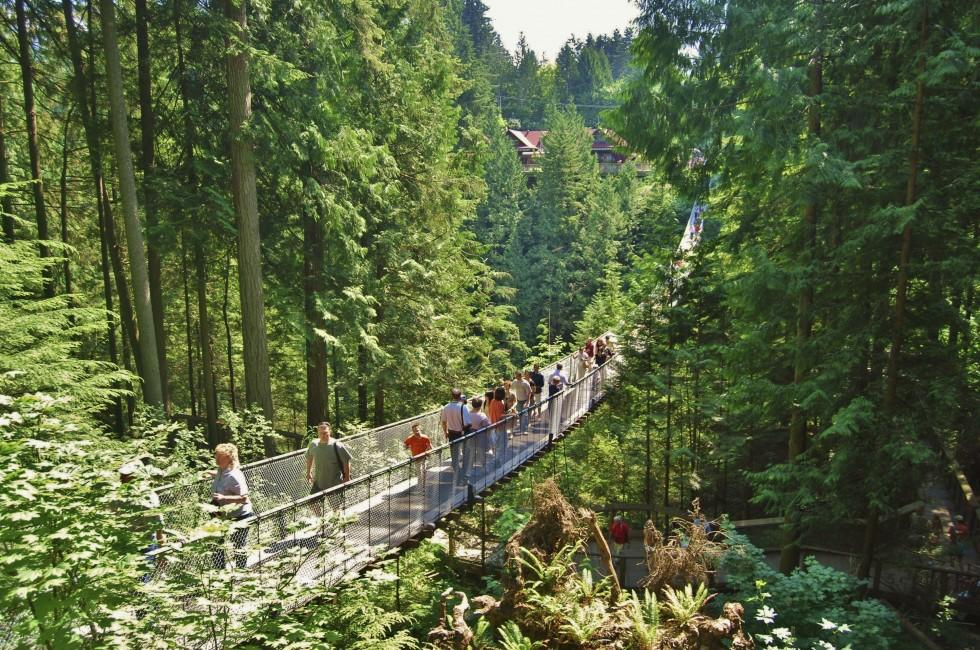 Hikers, Capilano Bridge, Vancouver, British Columbia, Canada