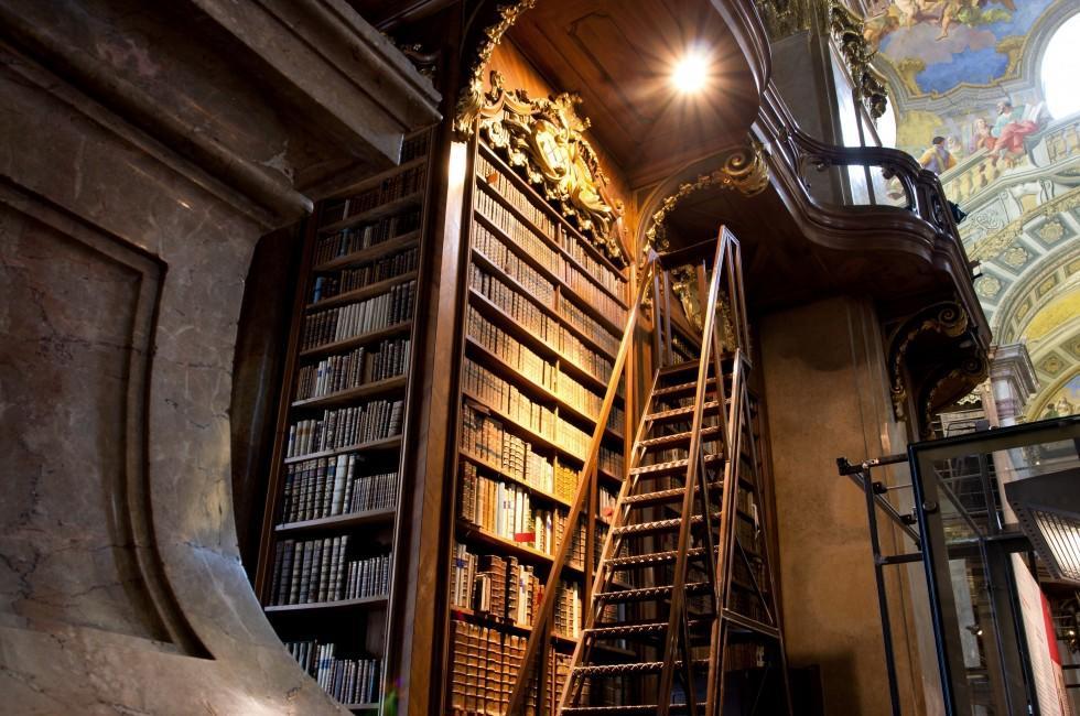 Books, Interior, Austrian National Library, Vienna, Austria