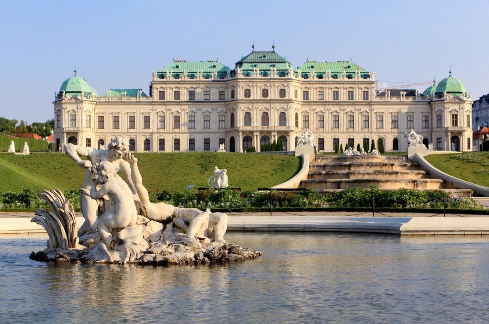Fountain, Garden, Belvedere Palace, Vienna, Austria