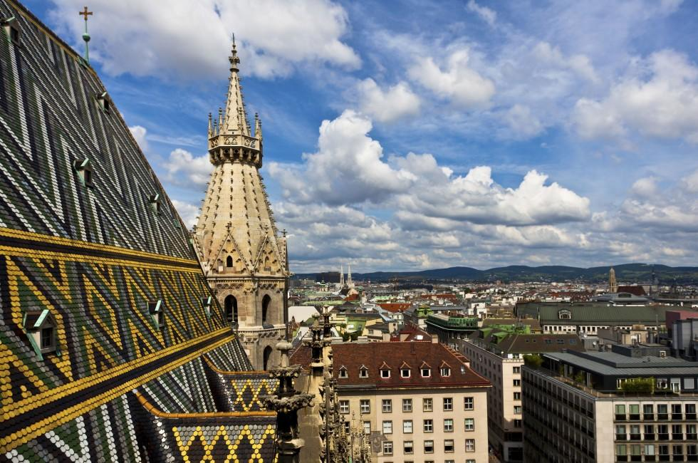 Roof, St. Stephan Cathedral, Cityscape, Vienna