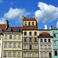 Houses, Old Town, Warsaw, Poland