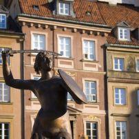 Warsaw Mermaid Statue, Warsaw, Poland