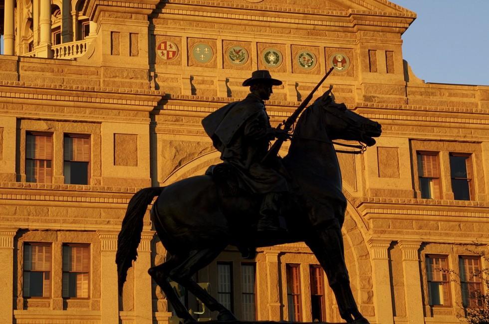 Texas Ranger Statue, Texas State Capitol, Austin, Texas, USA