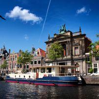 Canal, Houses, Haarlem, The Netherlands