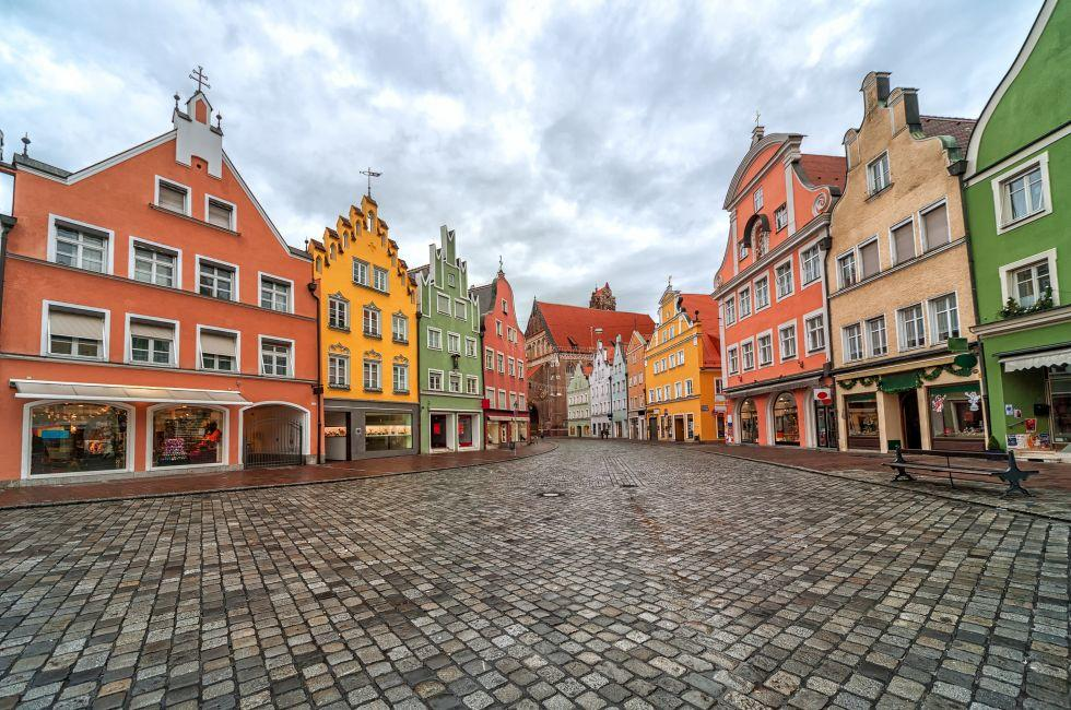 Street, Landshut, Munich, Germany