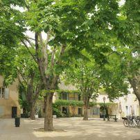 Couryard, Public Square, Saint-Remy-de-Provence, Provence, France