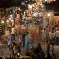 Night, The Souks, Marrakech, Morocco