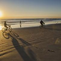 Sunrise, Bicycles, Cocoa Beach, Florida, USA