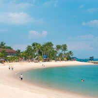 Coastline, Beach, Sentosa Island, Singapore, Asia.