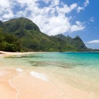 Beach, Haena Beach Park, Kauai, Hawaii, USA