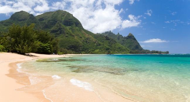 Beach Haena Park Kauai Hawaii Usa