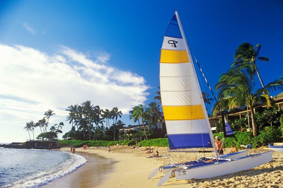 Beach, Kauai, Hawaii, USA.