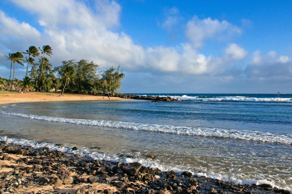 Beach, Poipu Beach Park, Kauai, Hawaii, USA