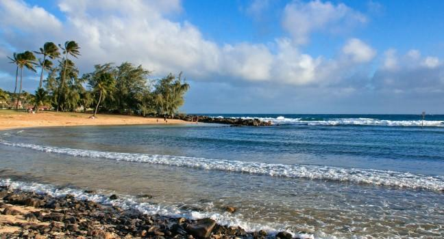 Beach, Poipu Beach Park, Kauai, Hawaii, USA