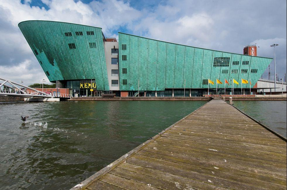 Science Center NEMO, Waterfront, Amsterdam, Netherlands, Europe