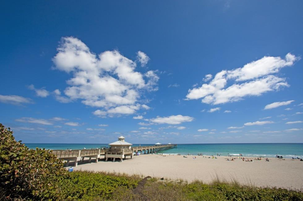 Pier, Beach, Palm Beach and the Treasture Coast, Florida, USA