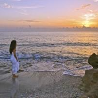 Woman, Sunrise Beach, Palm Beach and the Treasture Coast, Florida, USA