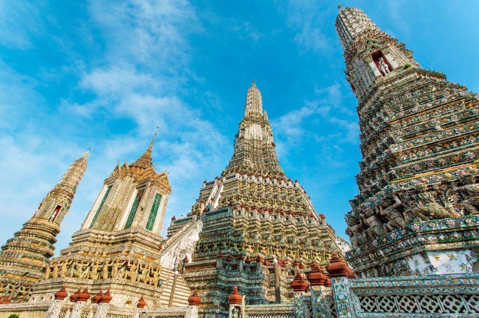 Wat Arun, Thonburi, Bangkok, Thailand.