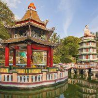 Pagoda, Haw Par Villa Theme Park, Greater Singapore, Singapore, Asia.