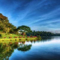 Sunrise, MacRitchie Reservoir Park, Greater Sinapore, Singapore, Asia.