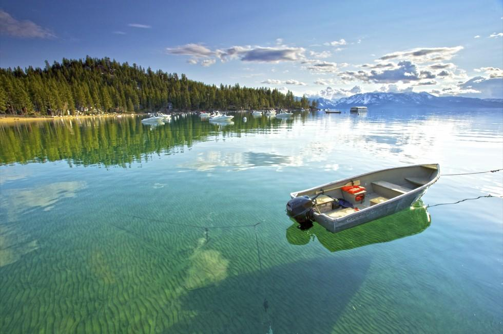 Boat, Landscape, Lake Tahoe, California, USA