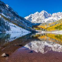 Marron Bells, White River National Forest, Aspen and the Roaring Fork Valley, Aspen, Colorado, USA, North America