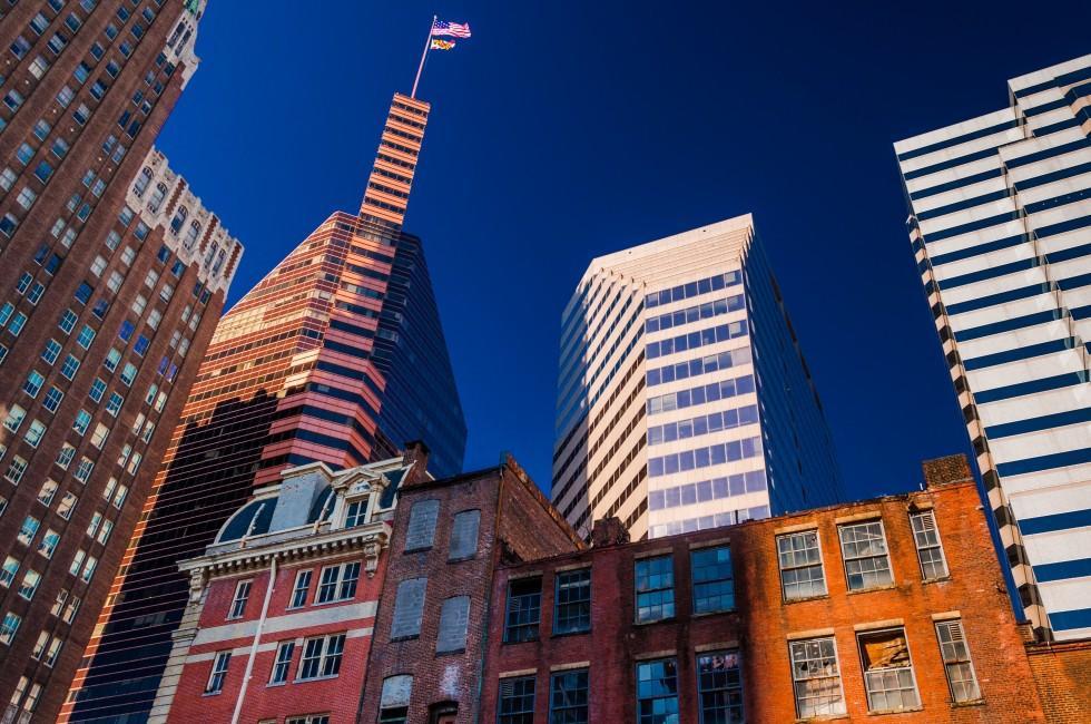 Cityscape, Skyline, Baltimore, Maryland, USA