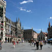 Crowd, Public Square, Marienplatz, Munich, Germany