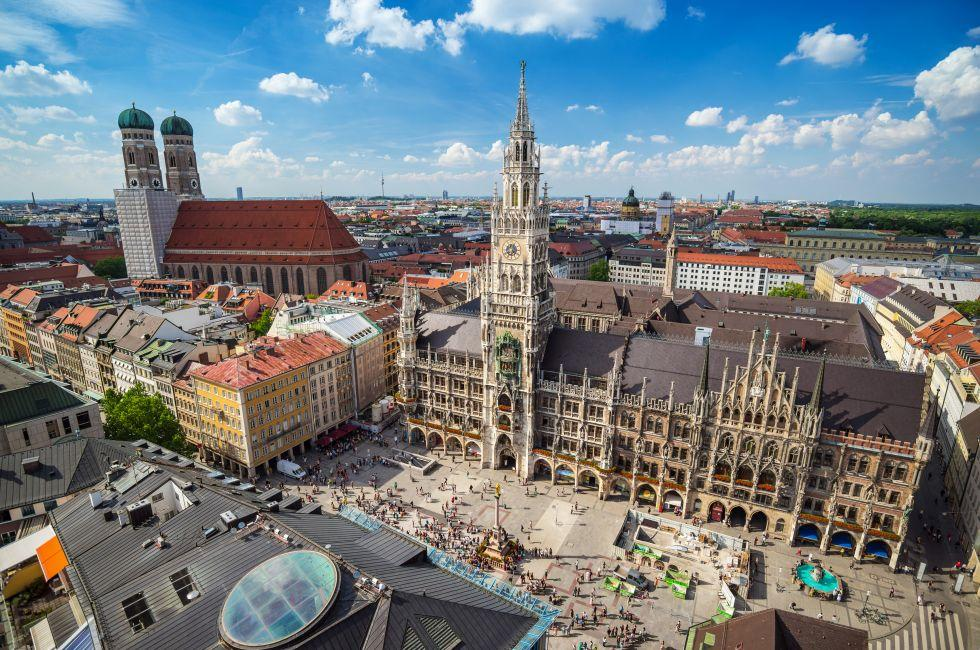 Marienplatz Town Hall, Altstadt, Munich, Germany, Europe