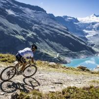 Biker, Mountains, Valais, Switzerland