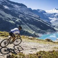 Biker, Mountains, Valais, Switzerland