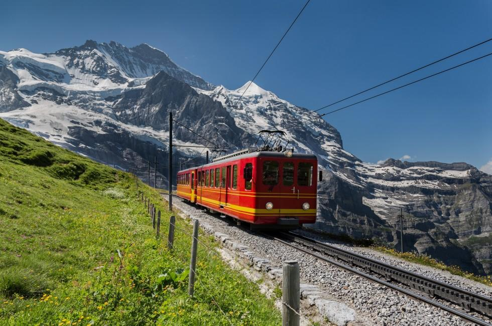 Jungfrau Bahn, The Alps, Valais, Switzerland