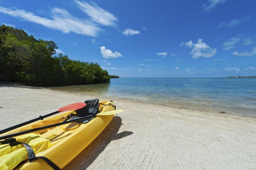 Kayak, Beach, The Florida Keys, Florida, USA