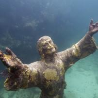 Underwater Staue, Christ of the Abyss, John Pennekamp Coral Reef State Park, The Florida Keys, Florida, USA