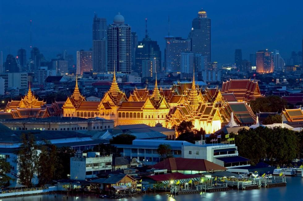 Grand Palace, Night, Bangkok, Thailand