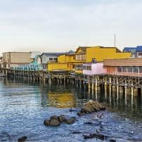 Monterey Wharf and Marina, Monterey Bay, California, USA