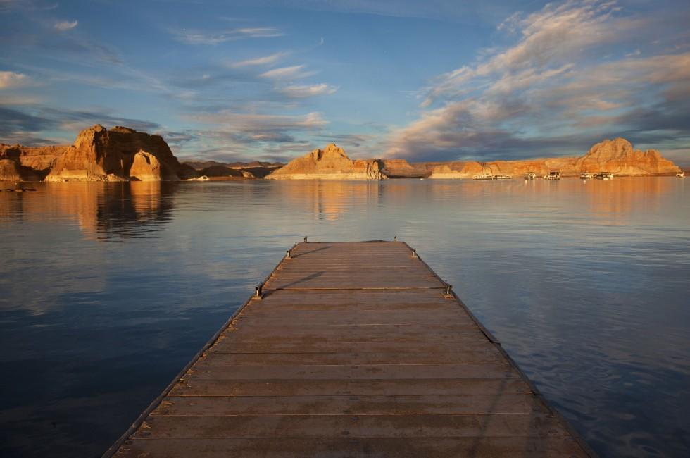 Dock, Lake Powell, Grand Canyon, Arizona, USA
