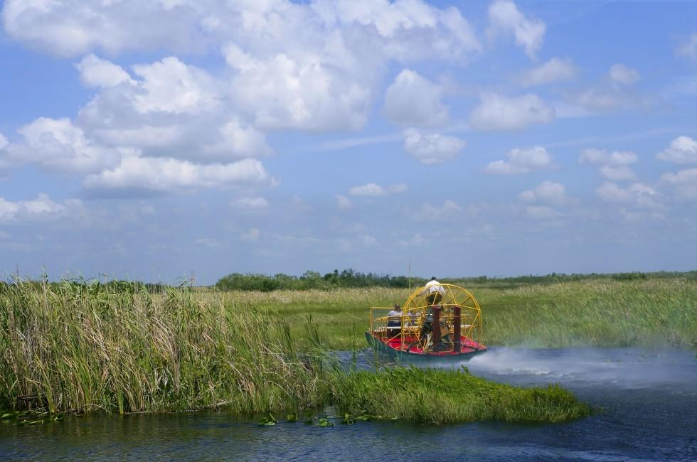 Boat, Big Cypress National Preserve, Everglades National Park, The Everglades, Florida, USA