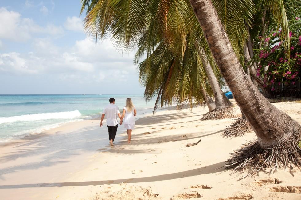Couple, Beach, Barbados, Caribbean