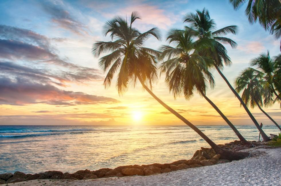 Sunset, Beach, Barbados, Caribbean