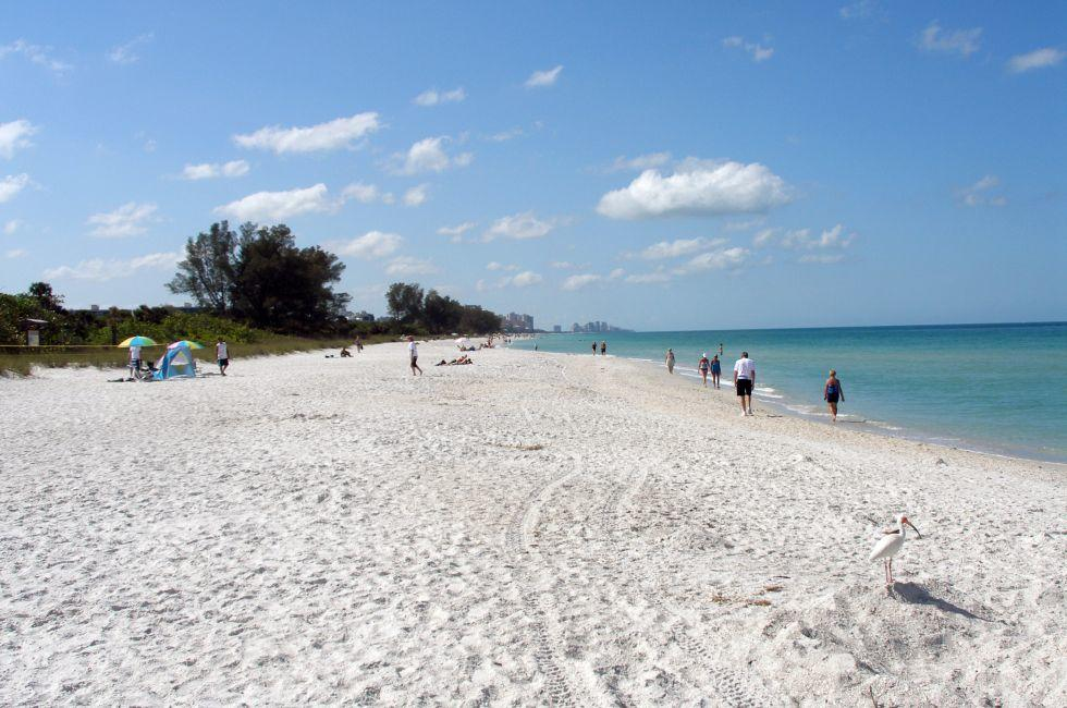 Beach, Coastline, Delnor Wiggins State Park, The Lower Gulf Coast, Florida, USA