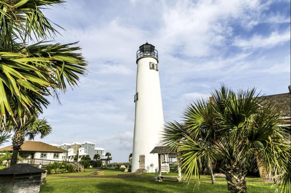Lighthouse, St. George's Island, The Lower Gulf Coast, Florida, USA