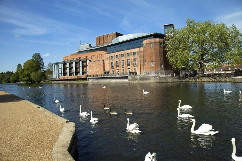 Royal Shakespeare Company Brick Theatre, River Avon, Stratford upon Avon, England