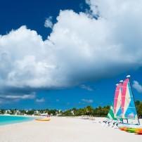Catamarans, Beach, Anguilla, Caribbean
